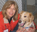 Bailey and me at the shelter where I volunteer. Bailey has since been adopted.